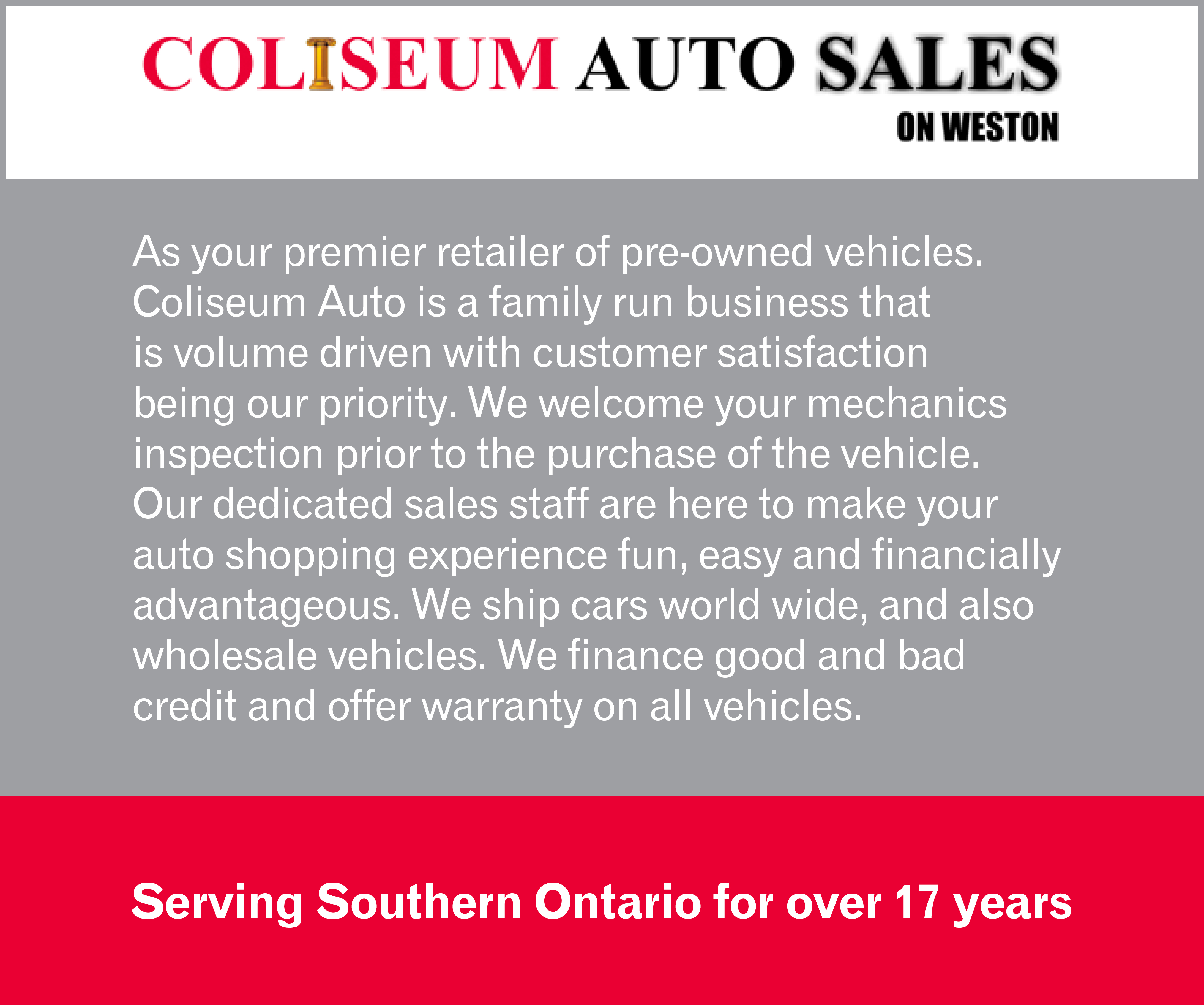 More from Coliseum Auto Sales