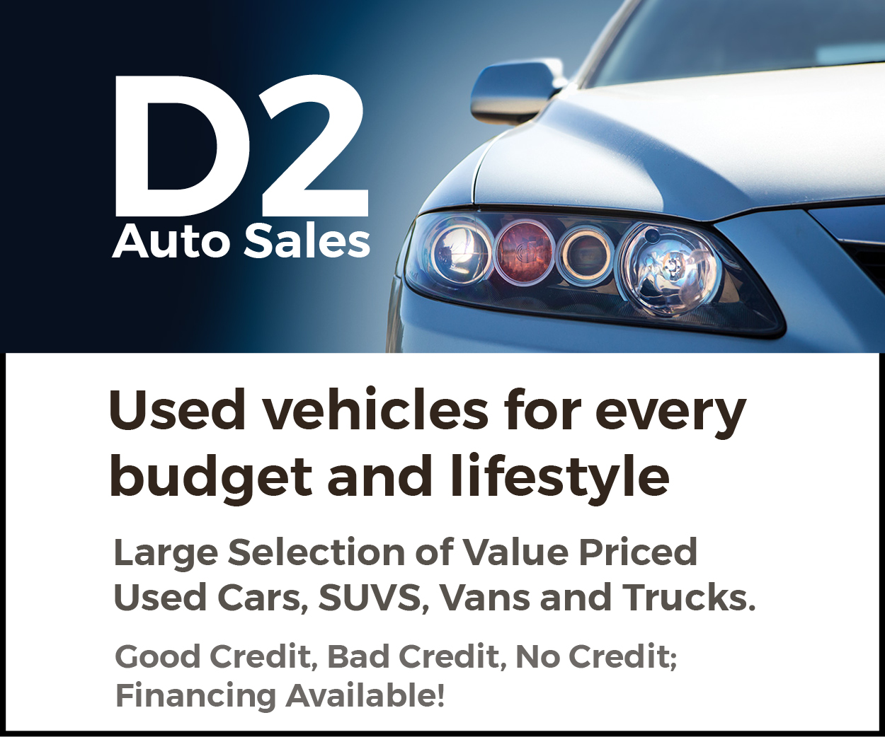 More from D2 Auto Sales
