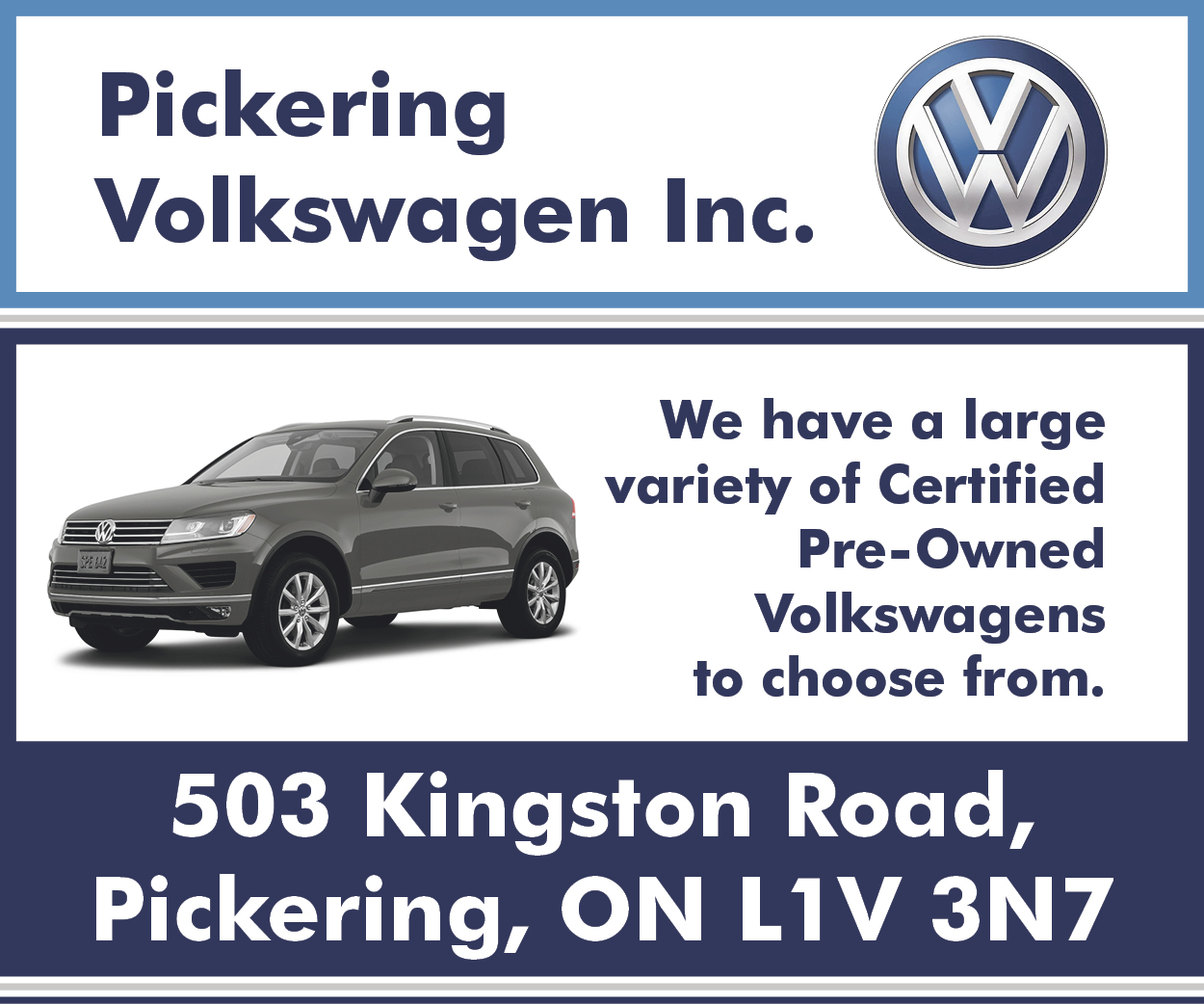 More from Pickering Volkswagen